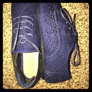 Bamboo Faux Suede Oxford Laser Cut